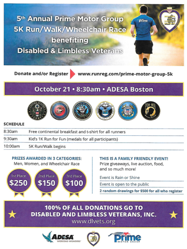 Prime Motor Group >> 5th Annual Prime Motor Group 5k Disabled And Limbless Veterans
